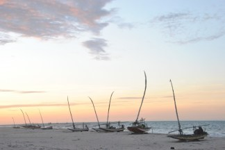 Vibrant sunset at Prainha do Canto Verde beach, Brazil