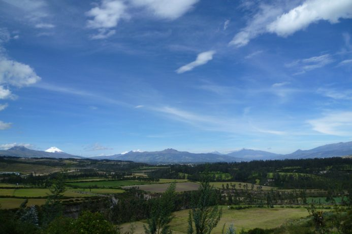 View of The Andes Mountain Range near Quito
