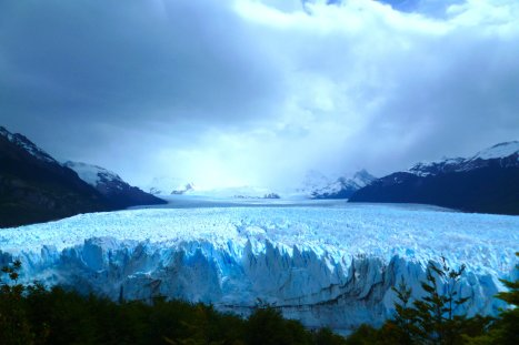 View over the impressive Perito Moreno Glacier, near El Calafate, Argentina
