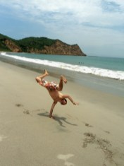 In Los Frailes beach, Pacific Ocean