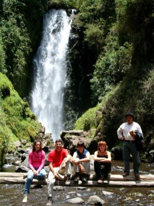 In the Peguche Waterfall, Ecuador
