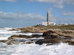 Striking waves at Cabo Polonio, Rocha, Uruguay