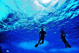Snorkelling in Easter Island, Chile