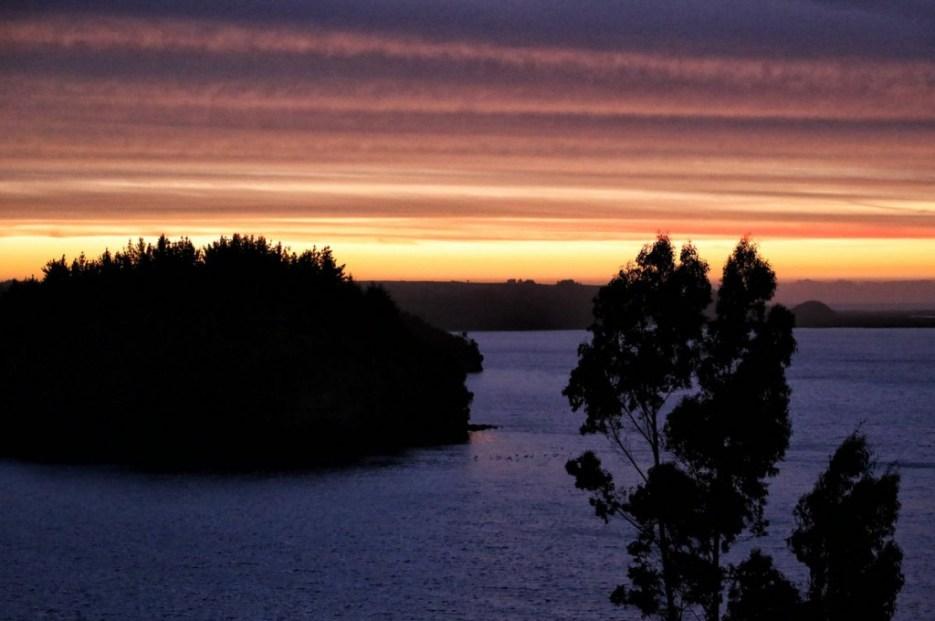 The view of Lake Budi