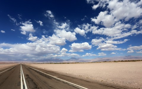 On the way to visit the Moon Valley during an Atacama Desert tour in Chile