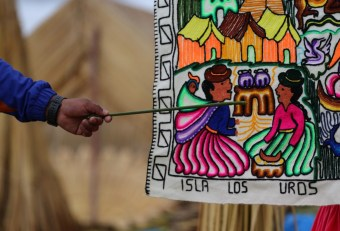 This artesan tells how the islands of Uros came to be on the Lake Titicaca boarder of Peru and Bolivia