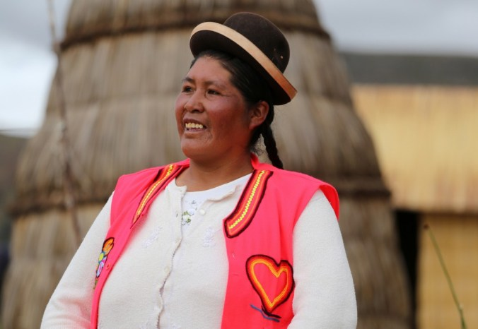 Colourful typical dress, as common as ever in Peru and Bolivia