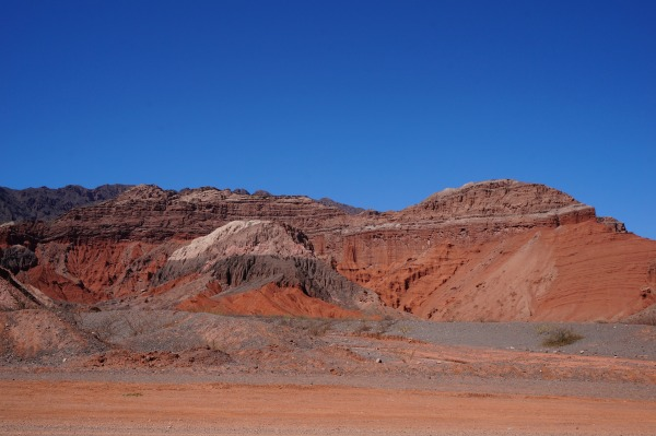 Colourful rock formations in the Quebrada de Humahuaca, near Salta in Argentina