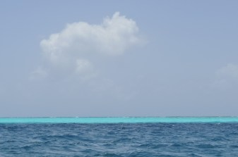 Striking blue hues off Providencia Island, Colombia