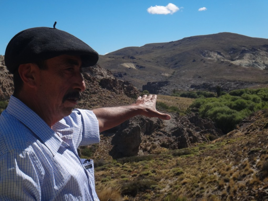 One of the traditional gaucho guides extolling enlightening information about the area near Bariloche, Argentina