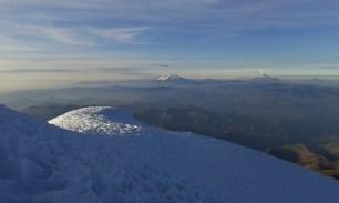 Stunning panoramic views from Cayambe summit, Ecuador