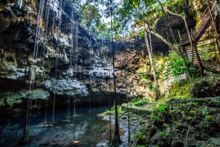 An amazing cenote in Takkbil'Ja, Mexico