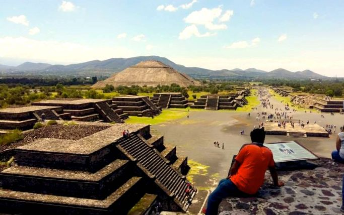 Spectacular archaeological site of Teotihuacan, Valley of Mexico
