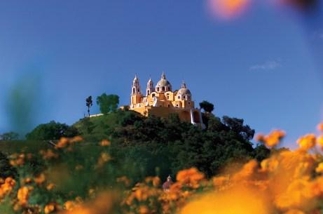 Stunning Church in Cholula, Puebla State, Mexico