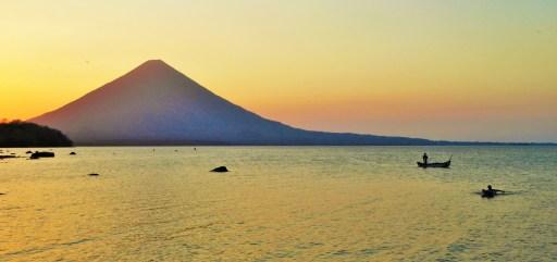Concepcion Volcano at sunset, Ometepe Island, Lake Nicaragua