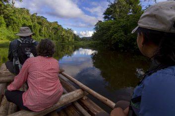 Travellers enjoying the Machuhuasi tour in the Amazon in Peru