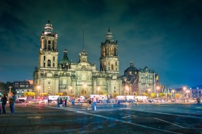 The National Cathedral at Plaza de la Constitucion, Mexico City