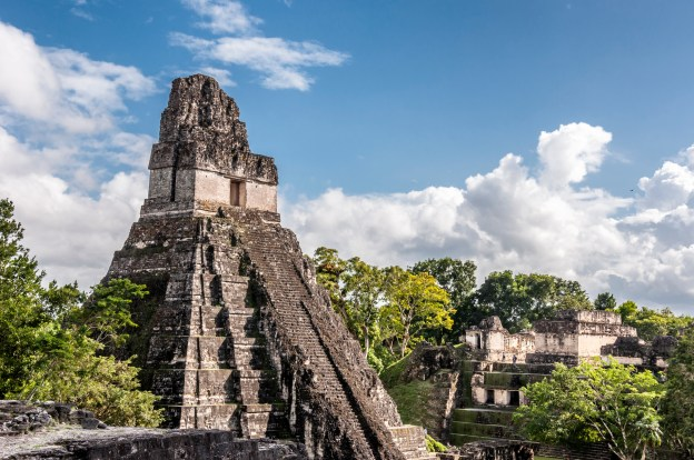 Climbing the unbelievable Tikal Unesco site, Guatemala