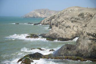 Rocky coast line near Cabo de la Vela, Colombia