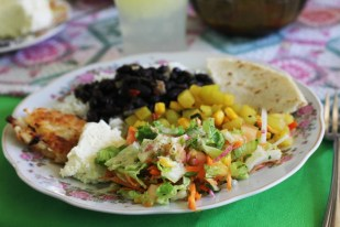 A delicious local casado prepared by the local women of Juanilama