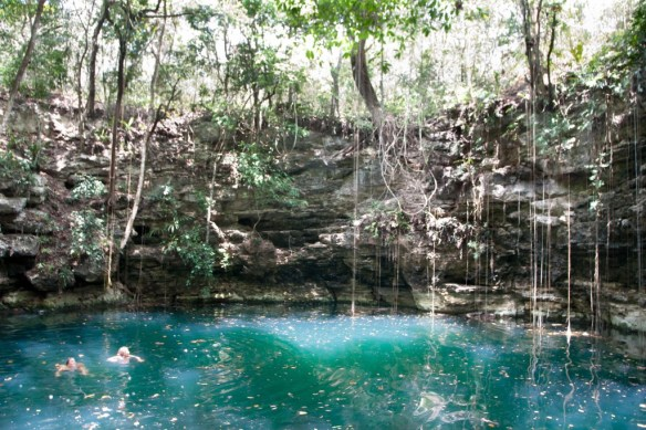 Dzula, a beautiful sinkhole near Chunhuhub in Mexico