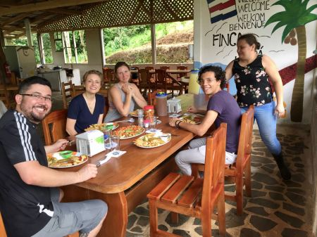 Enjoying an exquisite local lunch with the group, Costa Rica