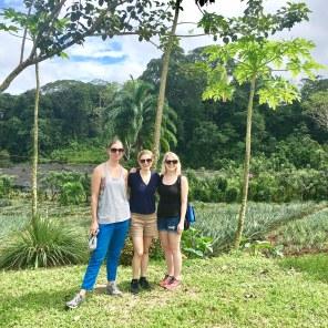Enjoying our hike through the Finca Sura plantations, Costa Rica