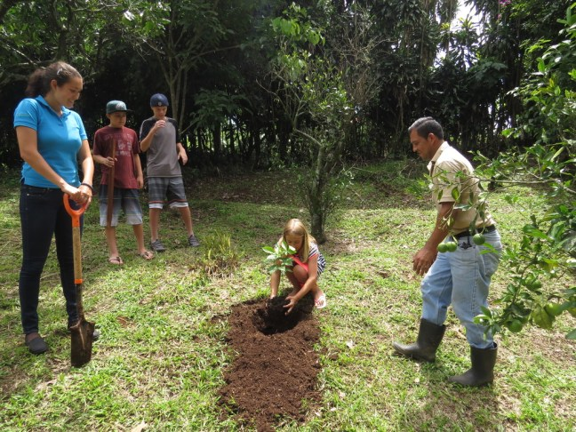 Tree Planting in the gardens of the Xandari Resort, sustainable lodge in Costa Rica