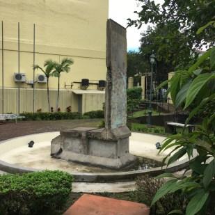 A piece of the Berlin Wall in San Jose, Costa Rica