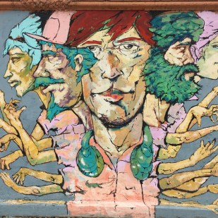 Paintings in detail San Jose, Costa Rica City streets