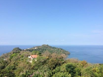 Incredible landscape of the blue ocean in Manuel Antonio National Park