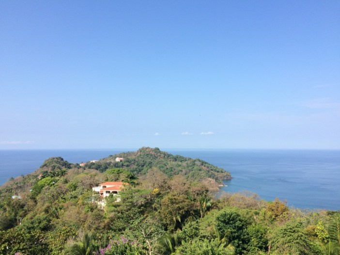 Incredible landscape of the blue ocean in Manuel Antonio National Park