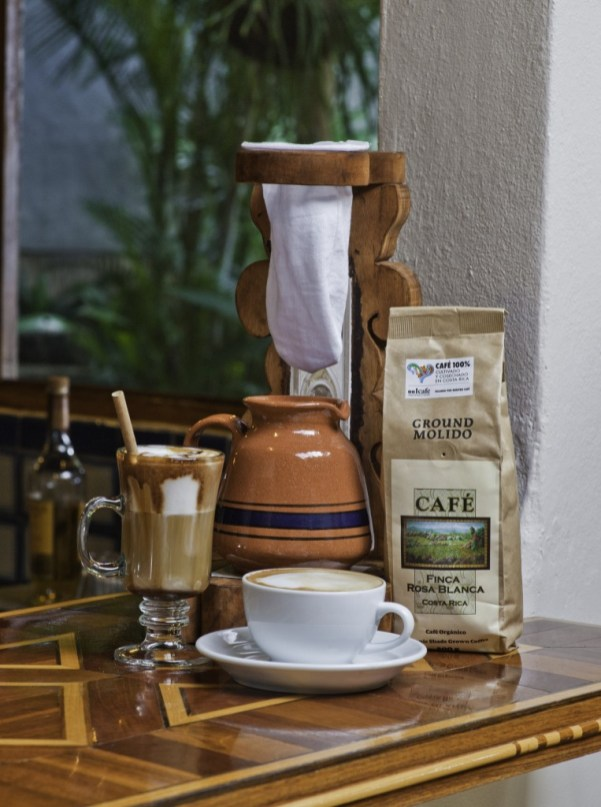 Locally produced, high quality organic coffee at Finca Rosa Blanca in Costa Rica