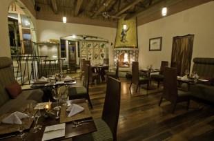View of El Tigre Vestido, the restaurant at Finca Rosa Blanca coffee plantation resort