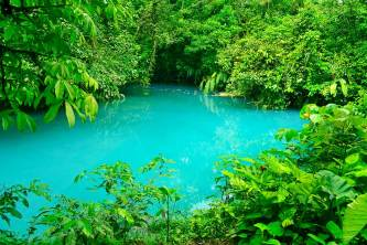Shades of blue and green in Rio Celeste