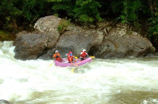 Amazing rafting In Chiriqui Viejo in Panama