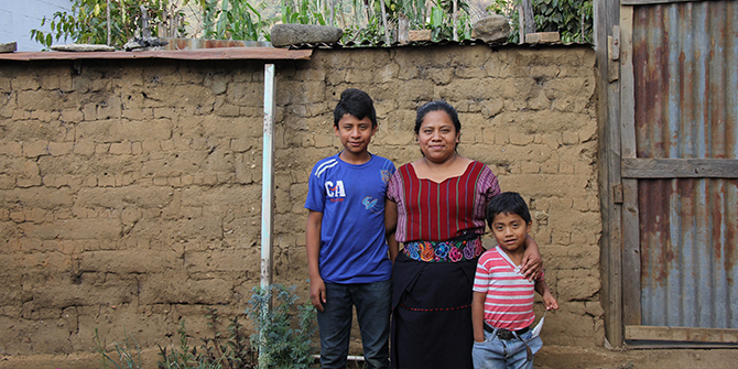 Herminia is a weaver from San Juan la Laguna and hostess in the homestay programme in Lake Atitlan, Guatemala