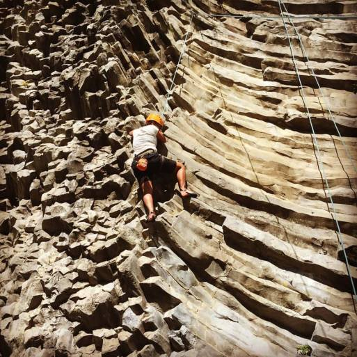 Rock climbing in Boquete during a Panama holiday