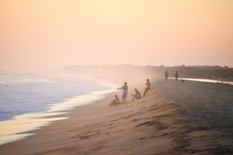 Enjoying sunset in a beach near Puerto Escondido in Oaxaca