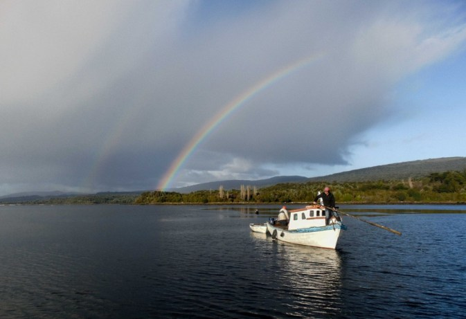 Artisan fishing with the locals in Chiloe Island, during a tour in Chile