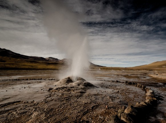 Visiting the Tatio Geyser and geothermal fields in the Atacama Desert, Chile