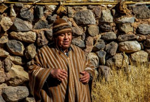 Wildo, one of our Lickan Antay local guides, while sharing his culture and beliefs with visitors in the Atacama Desert