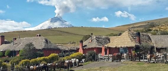 The lovely Hacienda El Porvenir in the Andes near Quito, Ecuador
