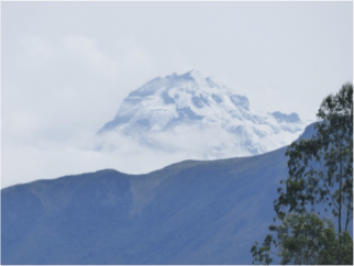 The magnificent Ruminahui Volcano, view during a trekking excursion in Ecuador