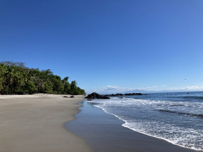 Beach in Nicoya, one of the spots for a wellness retreat in Costa Rica