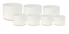 7 frosted bowl chakra set
