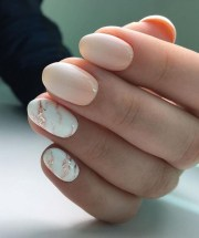 make almond marble nails