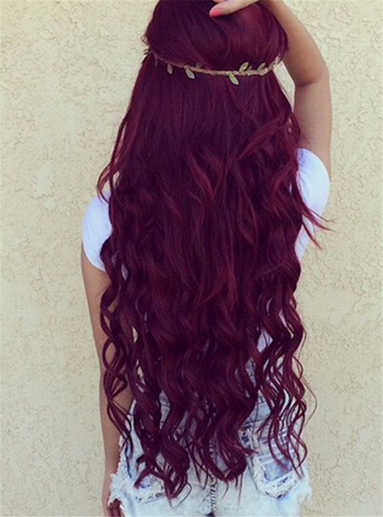 25 burgundy hair color