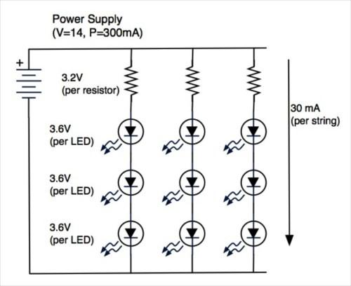 small resolution of basic led lights