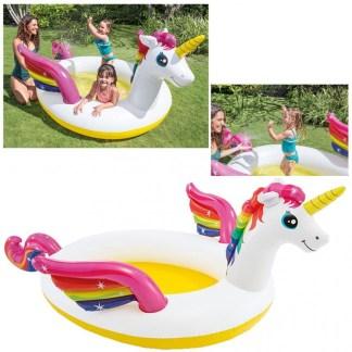 Afbeelding van Intex Regenboog Unicorn Eenhoorn Zwembad 272 x 193 x 104 cm